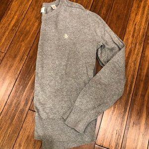 Men's Grey V-neck Sweater